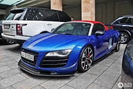 audi r8 chrome blue audi r8 v10 spyder apr performance 21 august 2016 autogespot