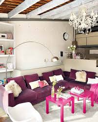Pink Living Room by Beautiful Loft With Pink Accent In Barcelona Interior Design