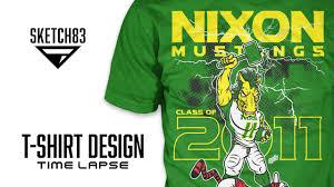 alumni tshirt t shirt time lapse nixon mustangs 2011 alumni