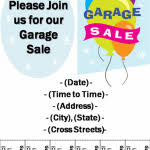 garage sale flyer template word 14 best yard sale flyer templates
