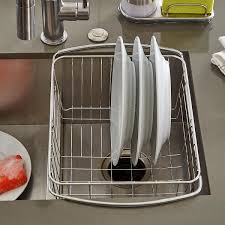 Stainless Steel InSink Dish Drainer The Container Store - Kitchen sink plate drainer