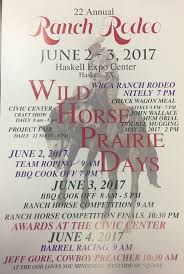 Wt Waggoner Ranch Map Wild Horse Prairie Days 2017 June 2 3 Haskell Tx