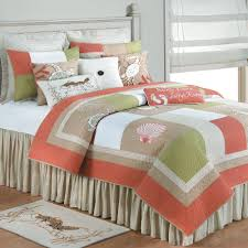 Peach Color Bedroom by Mesmerizing Beach Themed Comforters With Peach Color Accent On