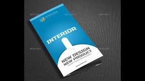 Interior Design Company Names by Modern Interior Tri Fold Brochure Template Design Youtube