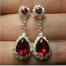 ruby drop earrings silver cz ruby drop earrings ea720 end 2 12 2020 2 29 pm