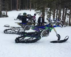 motocross snow bike timbersled snow bike graphic kits image gallery