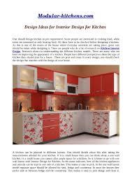 Interior Designs For Kitchen Design Ideas For Interior Design For Kitchen