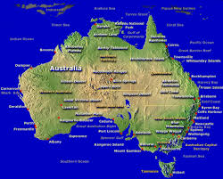 Austrailia Map Topographic Map Of Australia Nations Online Project Australia Map