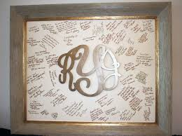 monogrammed wedding guest book wood monogram from initial outfitters matted framed for