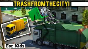 garbage truck video l city garbage truck driver l for kids l