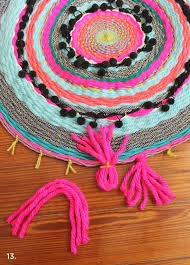 why not weave your own funky cute unique rug woven circle mat