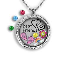 charm locket necklace images A touch of dazzle best friends locket necklace charm locket jpg