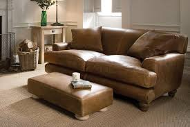 Leather Sofa In Living Room by The English Low Arm Leather Sofa By Indigo Furniture