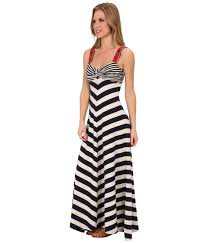 lucky brand stripe maxi dress in blue lyst