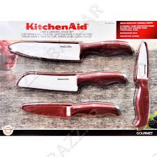 Kitchen Aid Knives Kitchenaid Ceramic Knife Set Chef S Blade Peeler Kitchen Aid