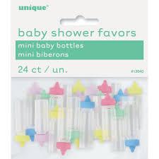 plastic baby bottle gender neutral baby shower favors gender