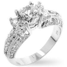 simulated engagement ring royal white gold bonded simulated 1 65ct five