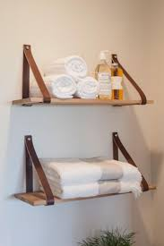 Bathroom Shelves Ideas Best 20 Leather Strap Shelves Ideas On Pinterest Easy Shelves