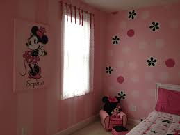 minnie mouse room painted stripes and dots for a 2 yr old can