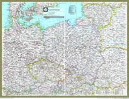 Central Europe Map by Poland Lithuania Czech Rep Slovakia Atlas Maps Com