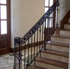 Iron Handrails For Stairs Wrought Iron Railing To Give Your Stairs Unique Look Tile
