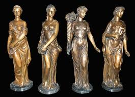 statues for sale set of 4 patinated bronze statues for sale antiques