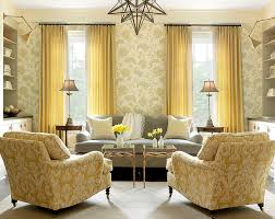 Yellow Grey Chair Design Ideas Style Living Room Design With Vintage Yellow Arm Chairs And