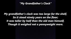 grandfather s my grandfather s clock words lyrics best top popular favorite