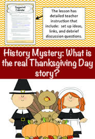 history crime solvers what is the real thanksgiving day story tpt