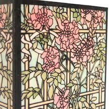 glass magnolia trellis mesh stencil