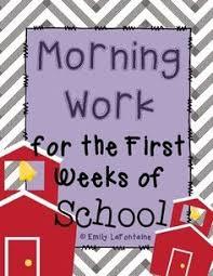 morning work for third grade third quarter third grade