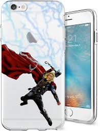 thor hammer super hero series transparent tpu case for apple iphone