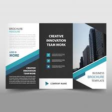 free tri fold business brochure templates blue trifold business flyer template vector free