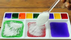 color snow mountain experiment with colors water u0026 polymer for