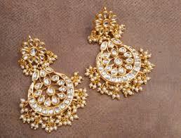 chandbali earrings online buy sabina kundan chandbali earrings online