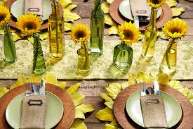 Sunflower Decorations Sunflower Decor Diy Placemats U0026 Table Decorations Petal Talk