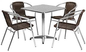 Outdoor Table Ls Square Aluminum Indoor Outdoor Table Set 5 Set
