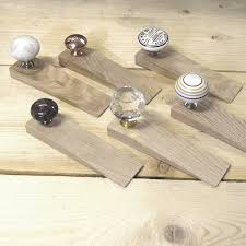solid oak copper granite crystal ceramic door stops solid oak