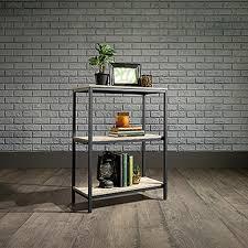 Sauder Black Bookcase by Sauder North Avenue Charter Oak 3 Shelf Bookcase 420276 The Home