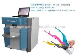 sequential paint color mixing machine auto computer paint