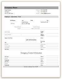 employees information template trend markone co