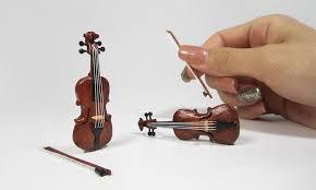 cuisine violine miniature violin made wooden popsicle sticks