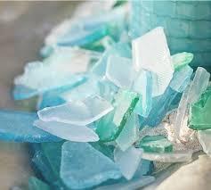 Turquoise Glass Vase Sea Glass Vase Filler Pottery Barn