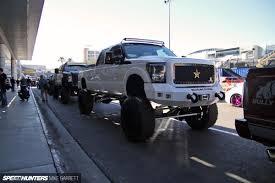mitsubishi mini truck lifted sema 2013 truckhunting speedhunters