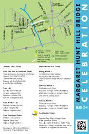 Dart Dallas Map Margaret Hunt Hill Bridge Celebration Schedule