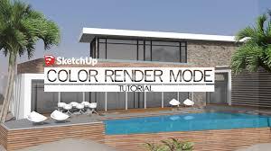 sketchup rendering color render mode using irender nxt youtube
