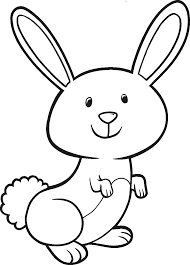 cute easter bunny coloring page for kids pages and color colouring