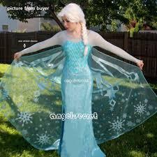 Elsa Costume J767 Movies Frozen Snow Queen Elsa Cosplay Costume Deluxe