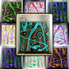 Teal And Brown Shower Curtain Abstract Turquoise Brown Modern Shower Curtain Bathroom Decor