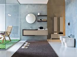 futuristic desiggn of the cream and blue bathroom ideas that can